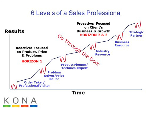 6 levels of sales professional